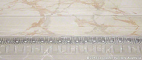 Kent Town Bathroom Hand Painted Marbled Cornice