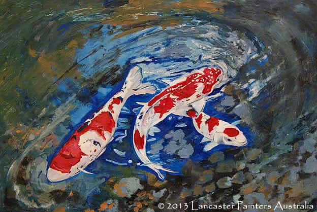 Specialty Finishes- Koi 3D Floor Painting