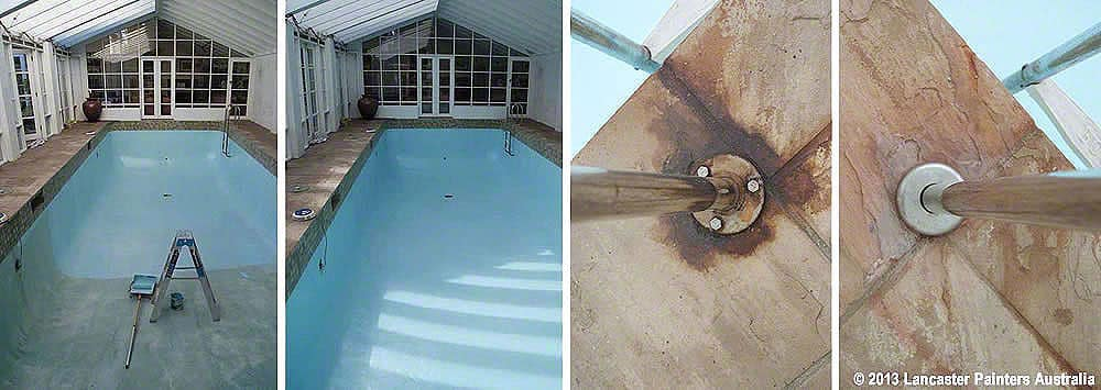 Professional Indoor Swimming Pool Painting - Before & After