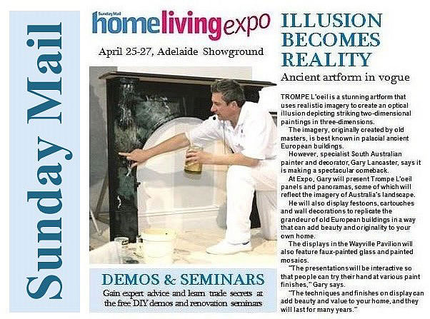 Sunday Mail Article - Home Living Expo - Gary Lancaster Demonstration