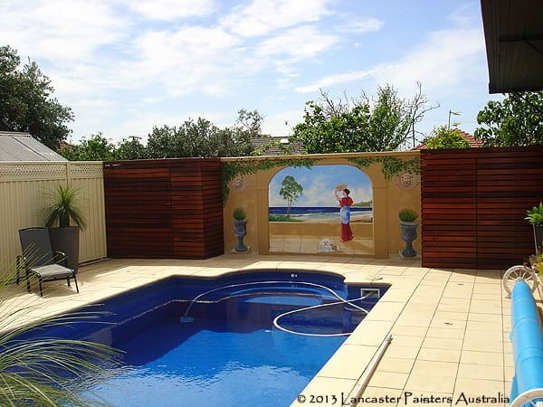 Swimming Pool Painting Art Trompe Loeil